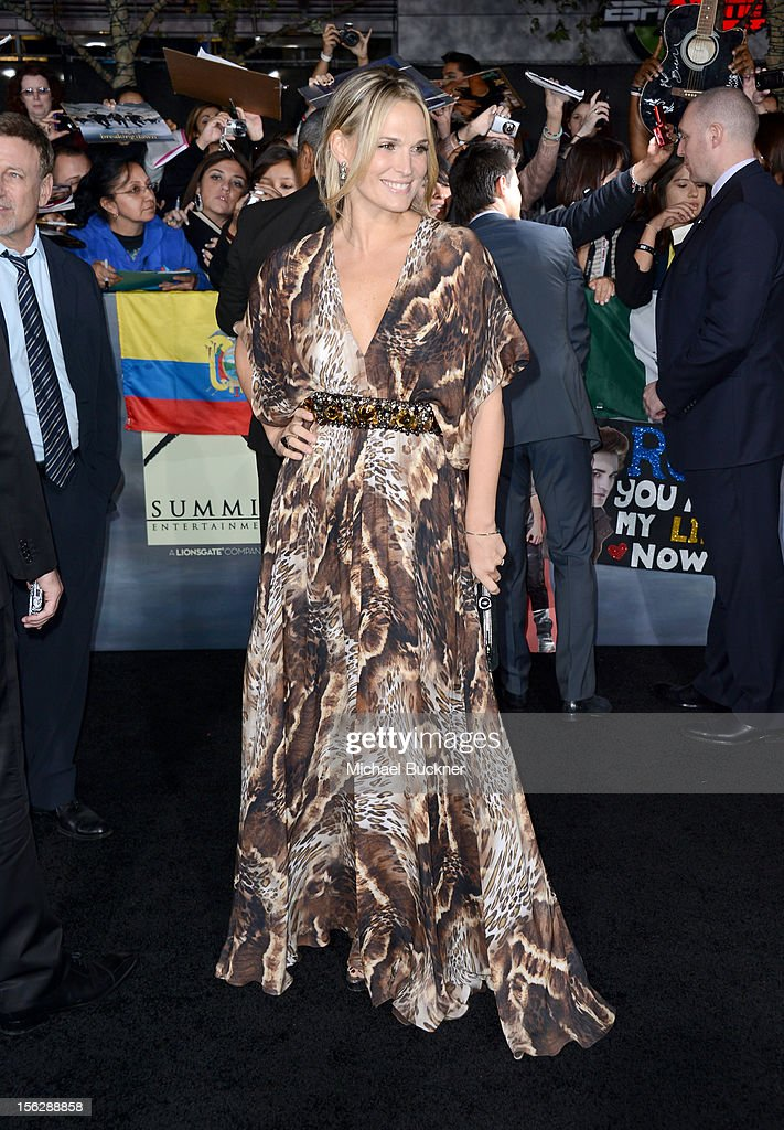 Actress Molly Sims arrives at the premiere of Summit Entertainment's 'The Twilight Saga: Breaking Dawn - Part 2' at Nokia Theatre L.A. Live on November 12, 2012 in Los Angeles, California.
