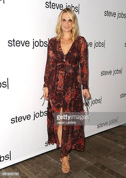 Actress Molly Sims attends a screening of Universal Pictures' 'Steve Jobs' on October 8 2015 in Los Angeles California