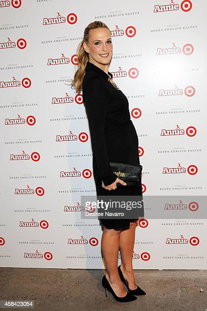 Actress Molly Sims attends 'Annie' For Target Launch Event at Stage 37 on November 4 2014 in New York City