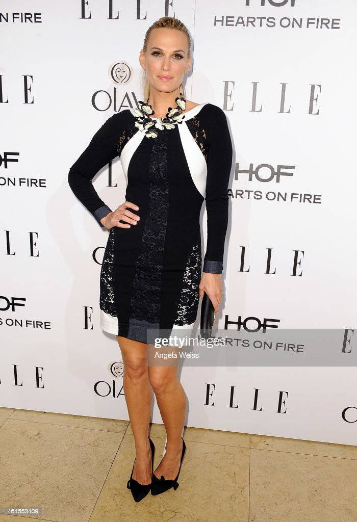 Actress Molly Sims attends ELLE's Annual Women in Television Celebration at Sunset Tower on January 22, 2014 in West Hollywood, California.