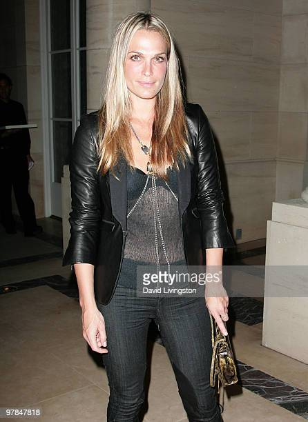 Actress Molly Sims attends Ferrari's charity auction of it's 1st Ferrari 458 Italia in North America at Fleur de Lys on March 18 2010 in Los Angeles...