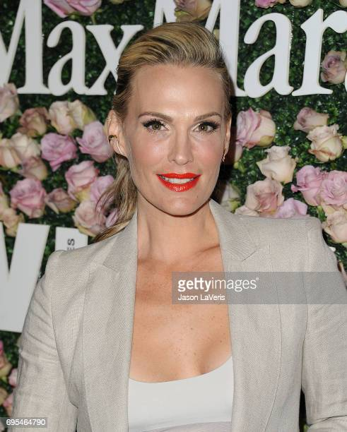 Actress Molly Sims attends Max Mara and Vanity Fair's celebration of Women In Film's Face of the Future Award recipient Zoey Deutch at Chateau...