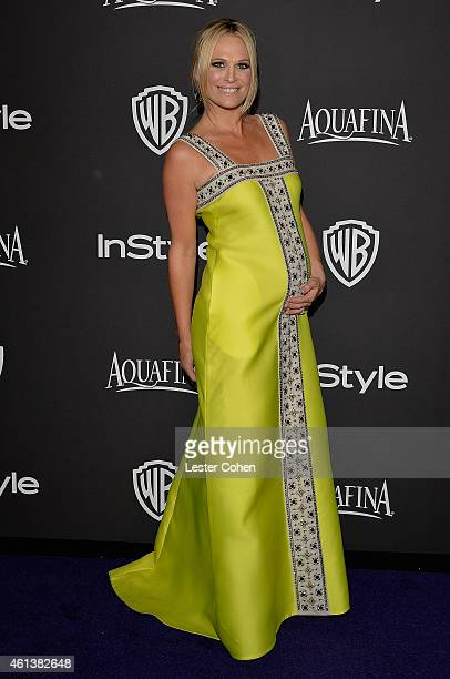 Actress Molly Sims attends the 16th Annual Warner Bros and InStyle PostGolden Globe Party at The Beverly Hilton Hotel on January 11 2015 in Beverly...