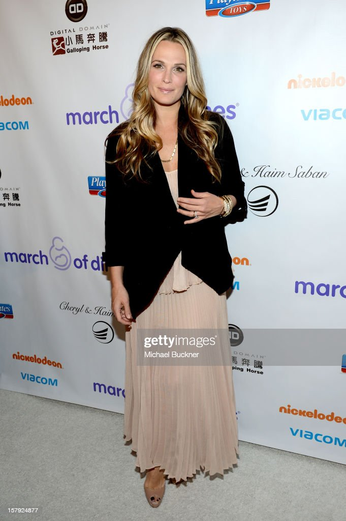 Actress Molly Sims attends the 7th Annual March of Dimes Celebration of Babies a Hollywood Luncheon at the Beverly Hills Hotel on December 7 2012 in...