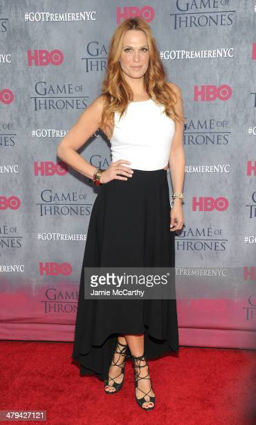 Actress Molly Sims attends the 'Game Of Thrones' Season 4 New York premiere at Avery Fisher Hall Lincoln Center on March 18 2014 in New York City