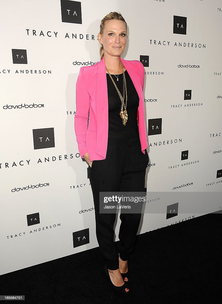 Actress Molly Sims attends the opening of Tracy Anderson Flagship Studio on April 4, 2013 in Brentwood, California.