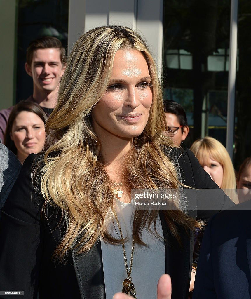 Actress Molly Sims attends the Restoration Hardware Baby And Child Gallery Opening at Third Street Promenade on November 10, 2012 in Santa Monica, California.
