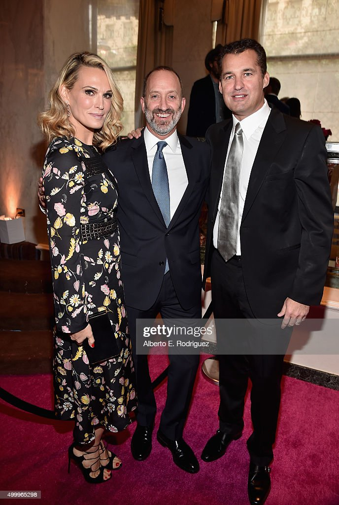 Actress Molly Sims cochair Jimmy Horowitz and producer Scott Stuber attend the 2015 March Of Dimes Celebration Of Babies at the Beverly Wilshire Four...