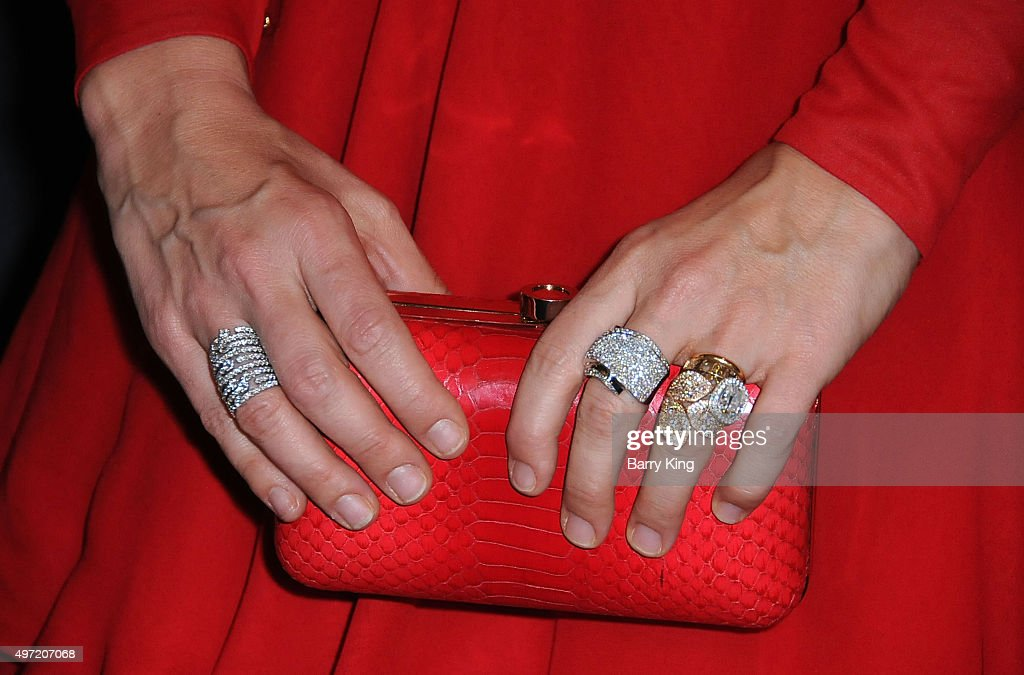 Actress Molly Sims purse and jewelry detail attends The Grove Christmas With Seth MacFarlane at The Grove on November 14 2015 in Los Angeles...