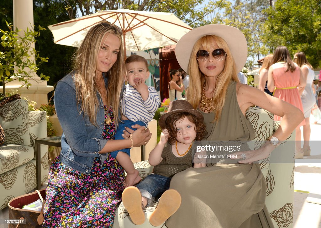 Actress <a gi-track='captionPersonalityLinkClicked' href=/galleries/search?phrase=Molly+Sims&family=editorial&specificpeople=202547 ng-click='$event.stopPropagation()'>Molly Sims</a>, son Brooks Stuber and Designer/TV Personality Rachel Zoe and son, Skyler Berman attend the Huggies Snug & Dry and Baby2Baby Mother's Day Garden Party held on April 27, 2013 in Los Angeles, California.