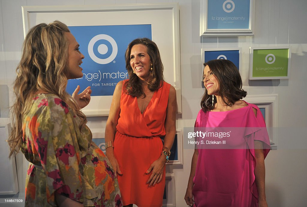 Actress Molly Sims, Target maternity wear designer Liz Lange and actress, director Soleil Moon Frye attend Liz Lange for Target 10th Anniversary Party at The Glasshouses on May 16, 2012 in New York City.