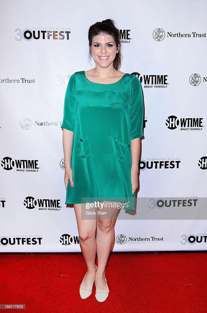 Actress Molly Tarlov arrives at the 2012 Outfest Legacy Awards at Orpheum Theatre on October 13, 2012 in Los Angeles, California.