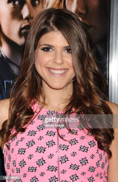 Actress Molly Tarlov arrives at the Los Angeles premiere of 'The Mortal Instruments City Of Bones' at ArcLight Cinemas Cinerama Dome on August 12...