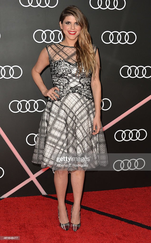 Actress <a gi-track='captionPersonalityLinkClicked' href=/galleries/search?phrase=Molly+Tarlov&family=editorial&specificpeople=7810085 ng-click='$event.stopPropagation()'>Molly Tarlov</a> arrives to Audi Celebrates Golden Globes Weekend at Cecconi's Restaurant on January 9, 2014 in Los Angeles, California.