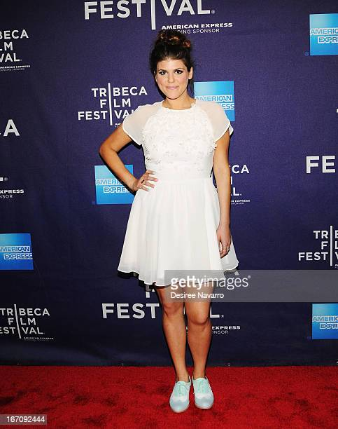 Actress Molly Tarlov attends the screening of 'GBF' during the 2013 Tribeca Film Festival at Chelsea Clearview Cinemas on April 19 2013 in New York...