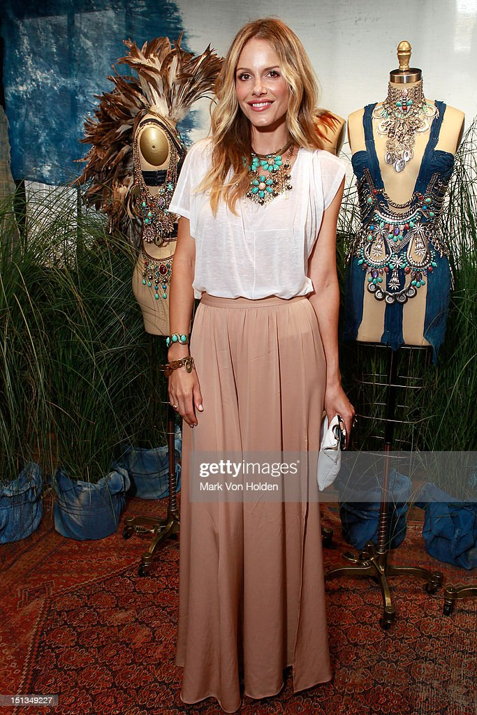 Actress Monet Mazur attends the Dannijo spring 2013 presentation during MercedesBenz Fashion Week at The Standard Hotel The High Line Room on...