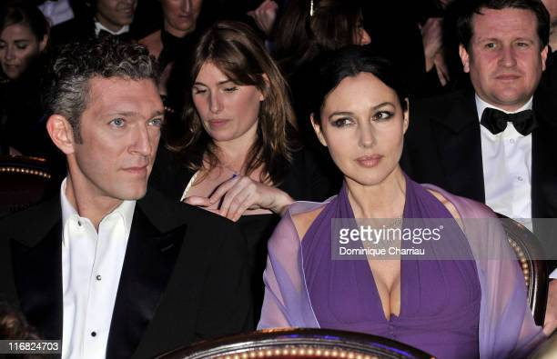 Actress Monica Bellucci and actor Vincent Cassel attend the Cesar Film Awards 2009 at the Theatre du Chatelet on February 27 2009 in Paris France