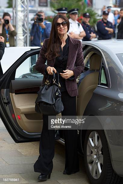 Actress Monica Bellucci arrives at the Maria Cristina Hotel during 60th San Sebastian International Film Festival on on September 25 2012 in San...