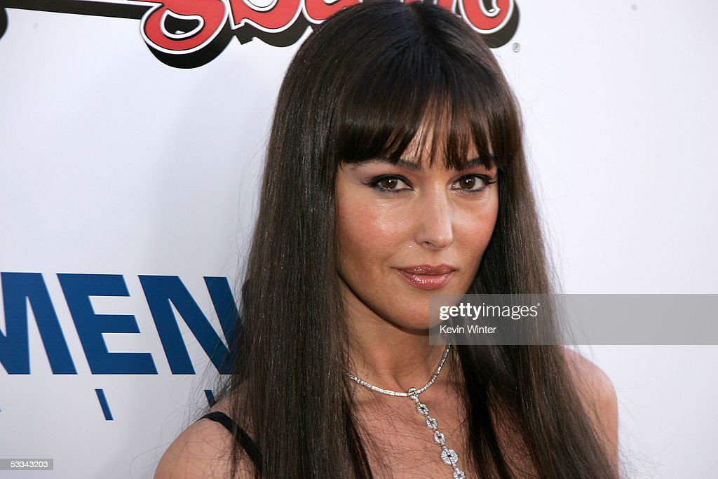 Actress Monica Bellucci arrives at the premiere of 'The Brothers Grimm' at the DGA Theater on August 8, 2005 in Los Angeles, California.