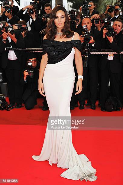 Actress Monica Bellucci arrives at the 'Wild Blood' Premiere at the Palais des Festivals during the 61st International Cannes Film Festival on May 19...
