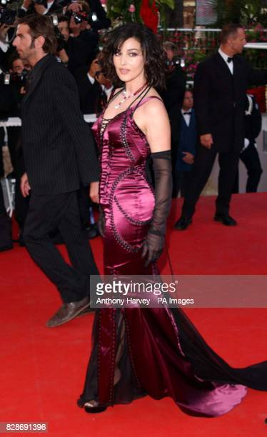 Actress Monica Bellucci arriving for the premiere of The Matrix Reloaded at the Palais des Festival in Cannes France
