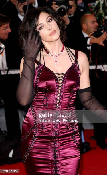 Actress Monica Bellucci arriving for the premiere of The Matrix Reloaded at the Palais des Festival in Cannes