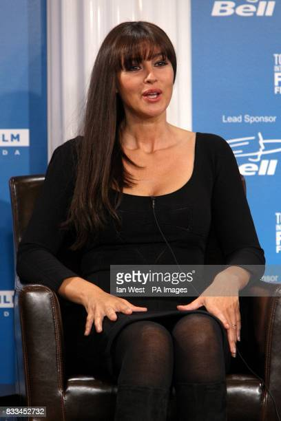 Actress Monica Bellucci at the press conference for 'Le Deuxieme Souffle' at the Sutton Place Hotel