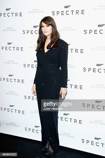 Actress Monica Bellucci attends '007 Spectre' Paris Premiere at Le Grand Rex on October 29 2015 in Paris France