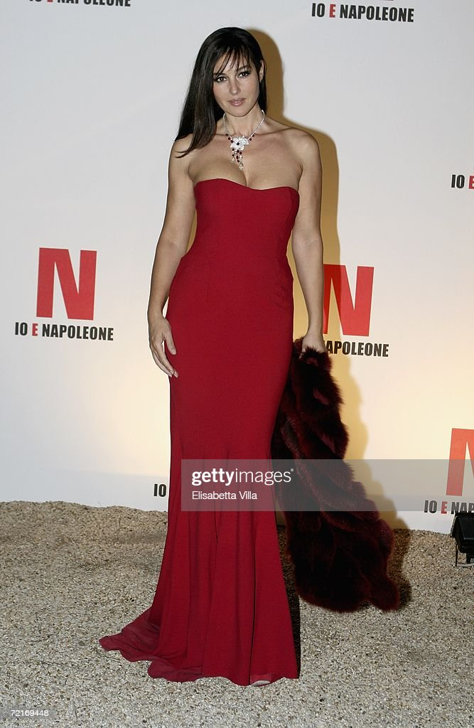 Actress Monica Bellucci attends a party to promote the movie 'N ' on the second day of Rome Film Festival on October 14 2006 in Rome Italy