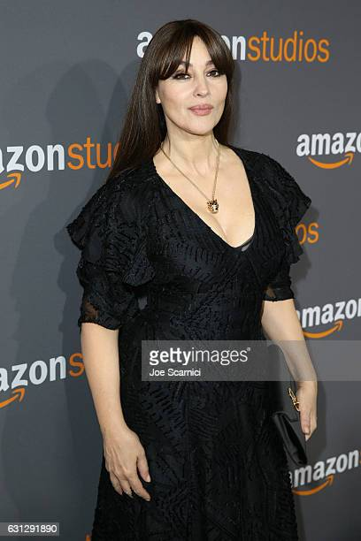 Actress Monica Bellucci attends Amazon Studios Golden Globes Celebration at The Beverly Hilton Hotel on January 8 2017 in Beverly Hills California