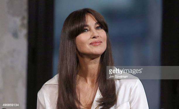 Actress Monica Bellucci attends AOL BUILD Series Presents 'Spectre' at AOL Studios In New York on November 5 2015 in New York City