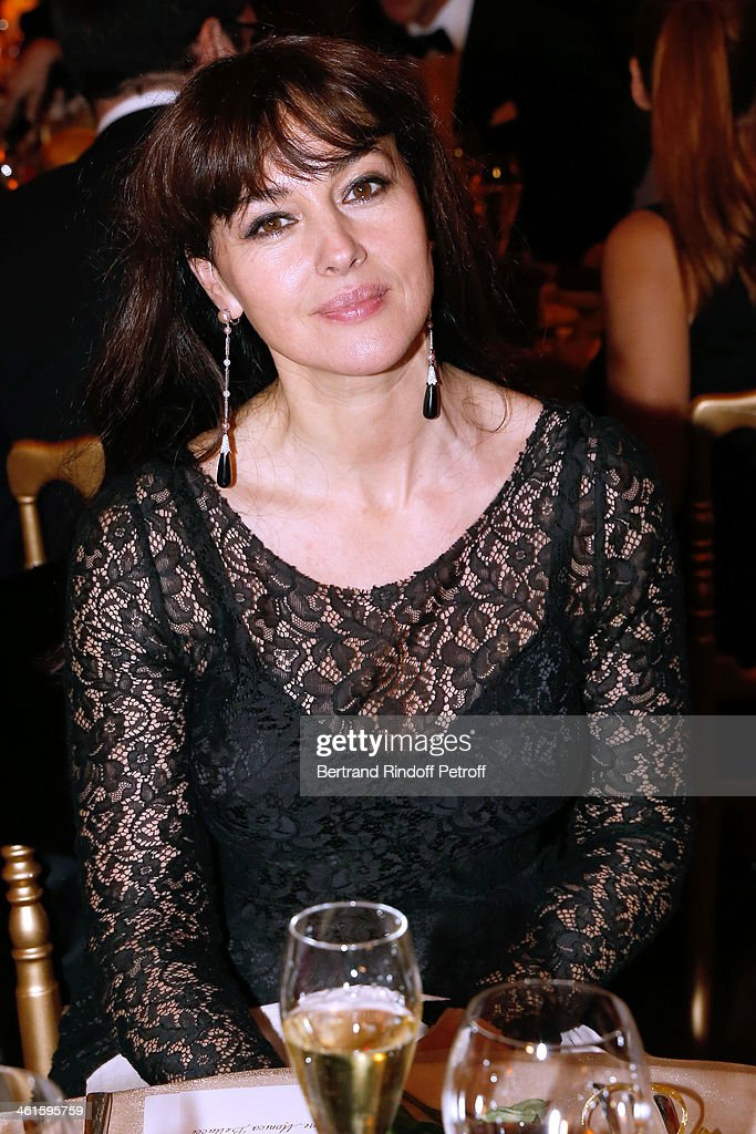 Actress <a gi-track='captionPersonalityLinkClicked' href=/galleries/search?phrase=Monica+Bellucci&family=editorial&specificpeople=204777 ng-click='$event.stopPropagation()'>Monica Bellucci</a> attends Arop Charity Gala with 'Ballet du Theatre Bolchoi'. Held at Opera Garnier on January 9, 2014 in Paris, France.