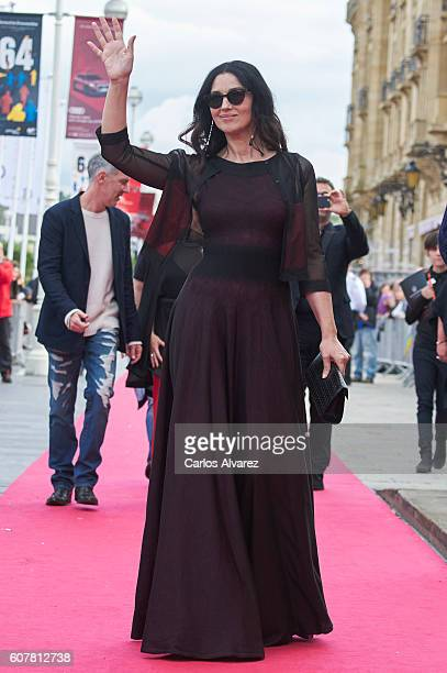 Actress Monica Bellucci attends 'Na Mlijecnom Putu ' premiere during the 64th San Sebastian International Film Festival at Victoria Eugenia Theater...