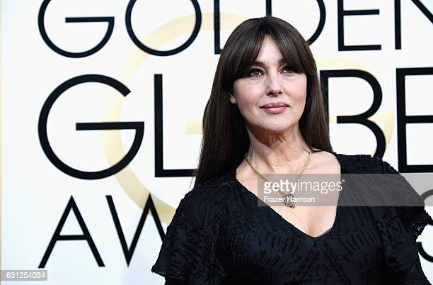 Actress Monica Bellucci attends the 74th Annual Golden Globe Awards at The Beverly Hilton Hotel on January 8 2017 in Beverly Hills California