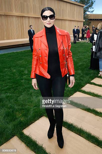 Actress Monica Bellucci attends the Chanel Spring Summer 2016 show as part of Paris Fashion Week on January 26 2016 in Paris France