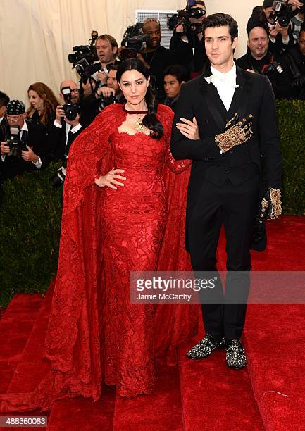 Actress Monica Bellucci attends the 'Charles James Beyond Fashion' Costume Institute Gala at the Metropolitan Museum of Art on May 5 2014 in New York...