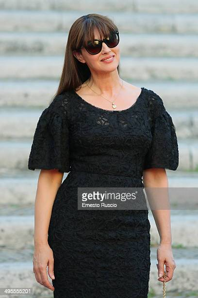 Actress Monica Bellucci attends the 'Ciak D'Oro Awards' arrivals at Piazza Campidoglio on June 3 2014 in Rome Italy