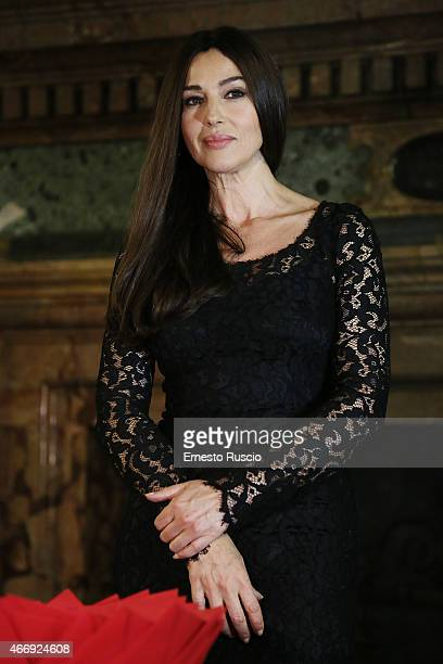 Actress Monica Bellucci attends the 'Gout De France / Good France' Gala Dinner at the France's embassy Palazzo Farnese on March 19 2015 in Rome Italy