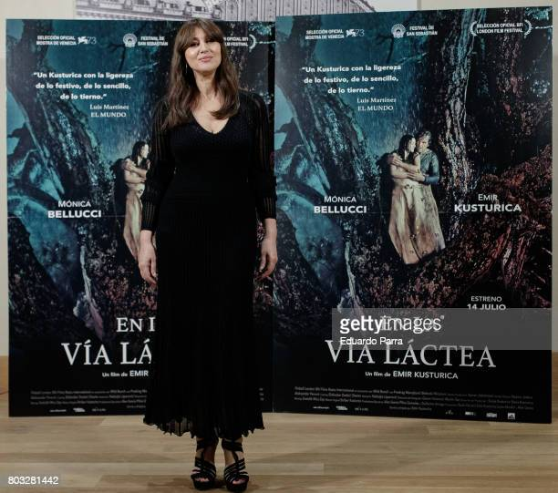Actress Monica Bellucci attends the 'On the Milky Road' photocall at Urso hotel on June 29 2017 in Madrid Spain
