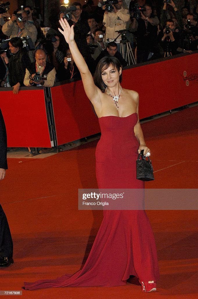 Actress Monica Bellucci attends the premiere of the movie 'N ' on the second day of Rome Film Festival on October 14 2006 in Rome Italy