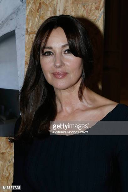 Actress Monica Bellucci attends the 'Richard Wentworth a la Maison Alaia' Exhibition Opening at Azzedine Alaia Gallery on September 7 2017 in Paris...