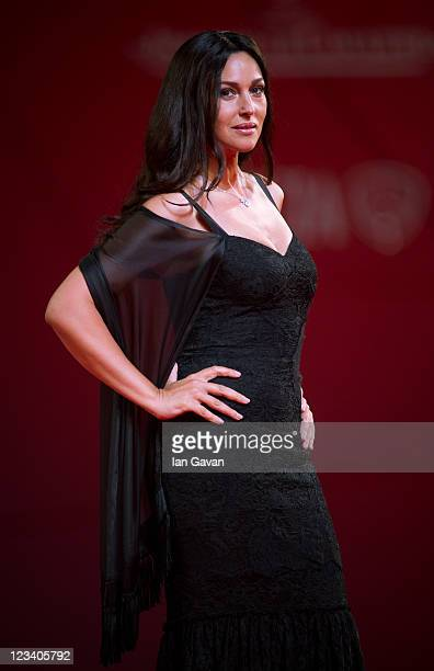 Actress Monica Bellucci attends the 'Un Ete Brulant' premiere during the 68th Venice Film Festival at Palazzo del Cinema on September 2 2011 in...