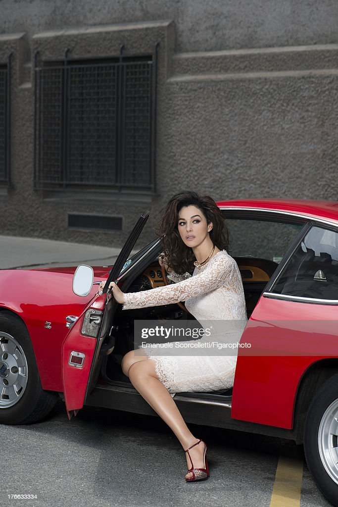 107162-005. Actress <a gi-track='captionPersonalityLinkClicked' href=/galleries/search?phrase=Monica+Bellucci&family=editorial&specificpeople=204777 ng-click='$event.stopPropagation()'>Monica Bellucci</a> is photographed for Madame Figaro on June 19, 2013 in Paris, France. Dress (Dolce & Gabbana), 'Affranchie' necklace and Trinity XL ring (Cartier), shoes (Christian Louboutin). Make-up by Dolce & Gabbana. PUBLISHED IMAGE.