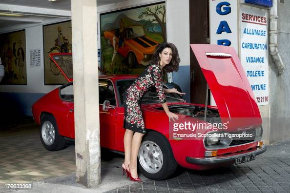 107162009 Actress Monica Bellucci is photographed for Madame Figaro on June 19 2013 in Paris France Dress earrings Makeup by Dolce Gabbana CREDIT...