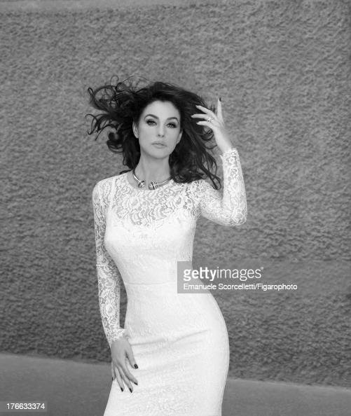 107162013 Actress Monica Bellucci is photographed for Madame Figaro on June 19 2013 in Paris France Dress 'Affranchie' necklace and Trinity XL ring...
