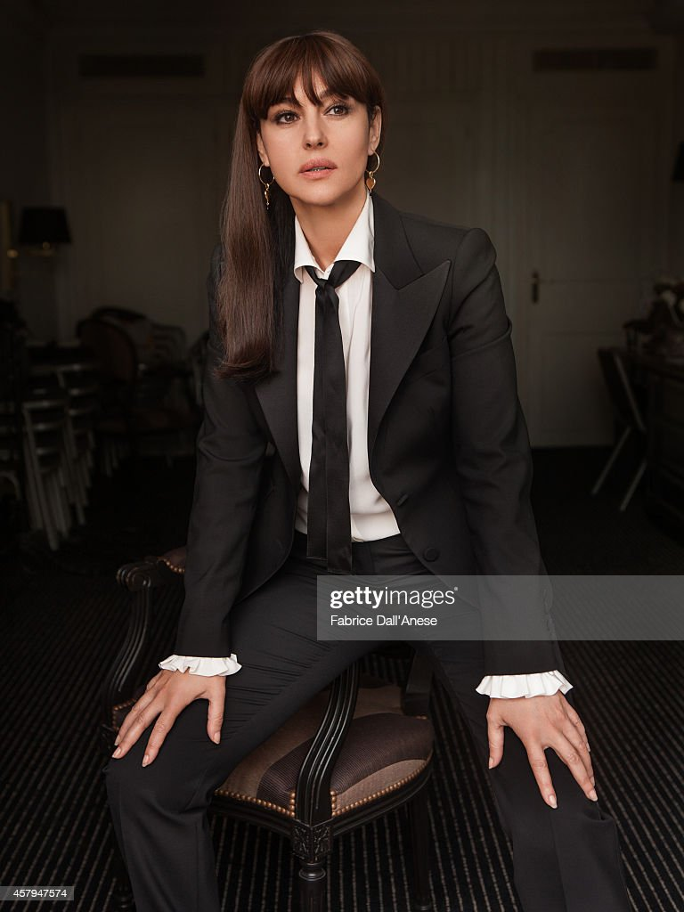 Actress <a gi-track='captionPersonalityLinkClicked' href=/galleries/search?phrase=Monica+Bellucci&family=editorial&specificpeople=204777 ng-click='$event.stopPropagation()'>Monica Bellucci</a> is photographed for Vanity Fair - Italy on May 15, 2014 in Cannes, France.