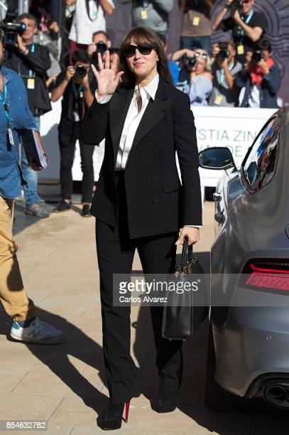 Actress Monica Bellucci is seen arriving at the Maria Cristina Hotel during the 65th San Sebastian International Film Festival on September 27 2017...