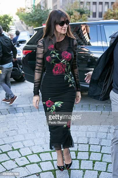 Actress Monica Bellucci is seen on October 28 2015 in Madrid Spain