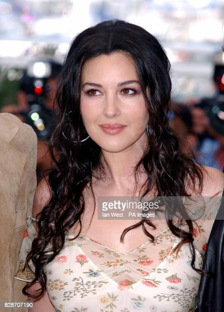 Actress Monica Bellucci poses for photographers during a photocall to promote her new film The Matrix Reloaded at the Palias des Festival as part of...