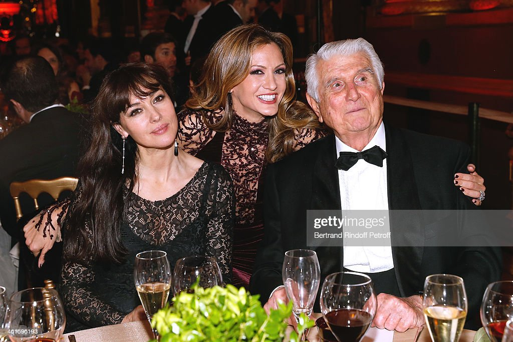 Actress <a gi-track='captionPersonalityLinkClicked' href=/galleries/search?phrase=Monica+Bellucci&family=editorial&specificpeople=204777 ng-click='$event.stopPropagation()'>Monica Bellucci</a>, President of the Gala Ulla Parker and Maurice Karaoglan attend Arop Charity Gala with 'Ballet du Theatre Bolchoi'. Held at Opera Garnier on January 9, 2014 in Paris, France.